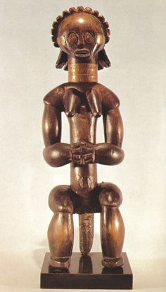 #179. Fang reliquary figure. Wood. 19th-20th c. CE. Cameroon.  RAND AFRICAN ART