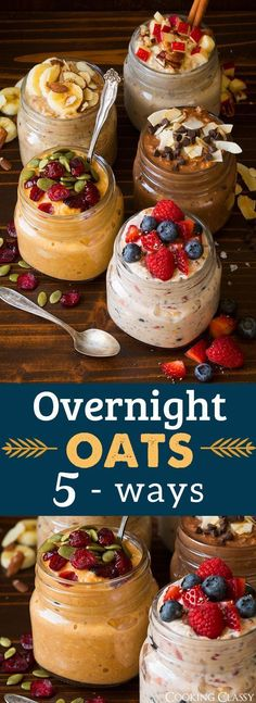 IDEA Health and Fitness Association: Overnight Oats Five Ways - Cooking Classy