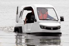 Have floods, will travel? The innovative Salamander amphibious trike could be the answer to a question being asked a lot more often due to global warming.
