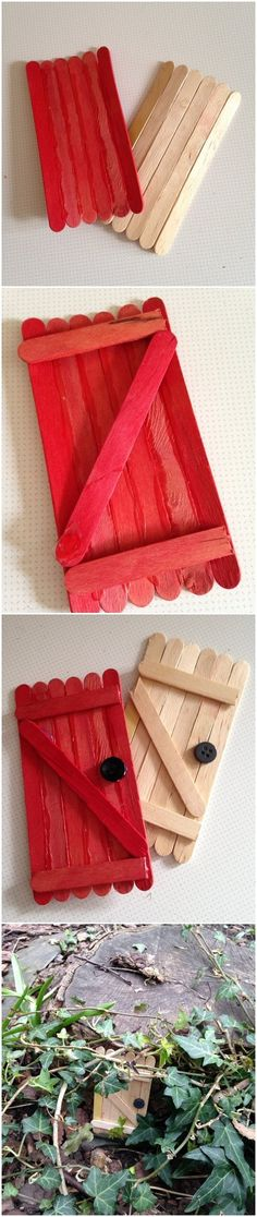 , how to make a fairy door lollipop sticks DIY garden decorating ideas. , how to make a fairy door lollipop sticks DIY garden decorating ideas Fairy Doors On Trees, Diy Fairy Door, Diy Door, Garden Gifts, Diy Garden Decor, Garden Ideas, Garden Fun, Garden Decorations, Fairy Garden Houses