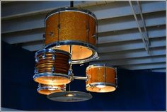 Voor Siera? Drum Kit Repurposed as a Chandelier