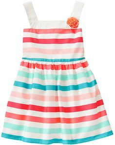 Corsage Striped Sundress Cute Girl Outfits Little Girl Outfits Little Girl Fashion Cute