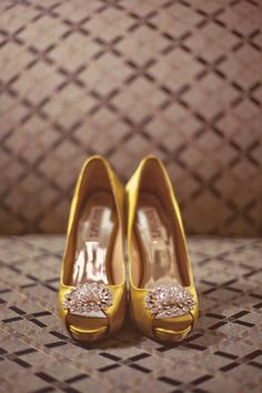 Yellow gold heels maybe