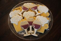 Stock the Bar bridal or couples shower--- look at these cookies!!