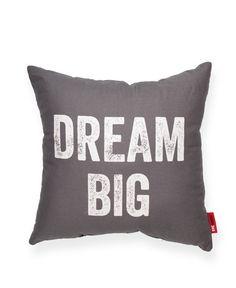 Dream Big Grey Decorative Throw Pillow