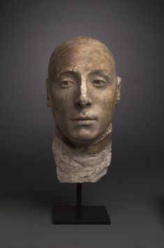 centuriespast: Jean-Antoine Houdon French, 1741–1828 Life mask of the Marquis de Lafayette, 1785 Johnson Museum of Art