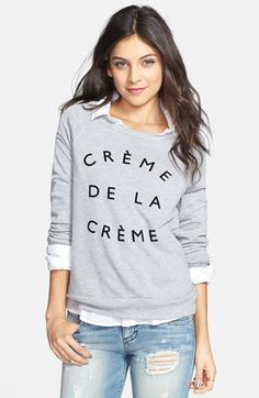 Project Social T 'Crème de la Crème' Pullover (Juniors) available at #Nordstrom