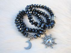 Live by the Sun, Love by the  Moon crystal bracelet set by VictoryJewelry