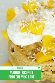 Who knew something could be so easy, delicious, AND healthy?! This recipe is for our plant powered Mango Coconut Protein Mug Cake. Perfectly sweet for Summer!