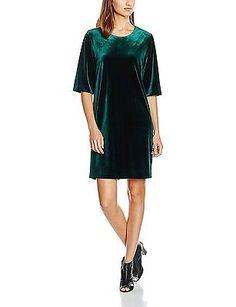 40, Green, MIRALBA Women's Margot Velvet Dress NEW