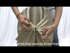 Red Universal Satin Chair Covers | eFavorMart