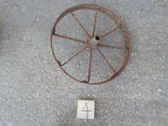 Metal Wheel large vintage rusty by rustyitems on Etsy, $35.00