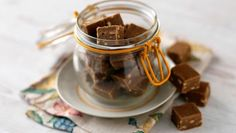 Peanut butter fudge        Sophie Dahl's homemade fudge recipe makes an easy sweet treat or a stunning edible gift.