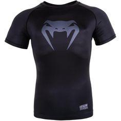 Venum Contender 3.0 Short Sleeve Compression Shirt (Black/Gray)