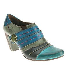 """L'Artiste by Spring Step """"Wondrous"""" Shoe Boots in Turquoise Multi"""