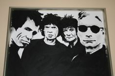 In 2007 dit olieverf schilderij van de Rolling Stones, gemaakt voor m'n vaders verjaardag.