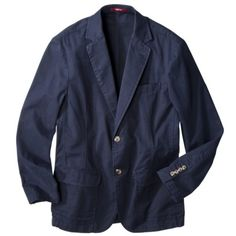 Cotton casual blazer in navy