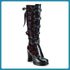 Demonia Crypto-106 - Gothic Punk Industrial Mini-Plateau Stiefel 36-43, Größe:EU-40/41 / US-10 / UK-7 - Stiefel für frauen (*Partner-Link)