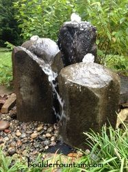Fountains we have been making and selling our boulder fountains for over 15 years. We now ship our fountains & water features nationwide. Pool Water Features, Outdoor Water Features, Water Features In The Garden, Boulder Garden, Landscape Pavers, Rock Fountain, Garden Fire Pit, Backyard Water Feature, Diy Garden