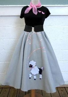 Details about Hip Hop Shop Womens 4 pc Poodle Skirt Outfit Halloween or Dance Costume Set - Poodle Skirt Costume, Poodle Skirt Outfit, 50s Costume, Hippie Costume, Poodle Skirts, Nerd Costumes, Modest Costumes, Dance Costume, Costume Ideas