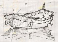 "Drawing and painting - vidéo Draw a boat and the ""pointu provençal"" . Boat Drawing, Ship Drawing, Painting & Drawing, Pencil Art Drawings, Drawing Sketches, Sailboat Painting, Boat Art, Urban Sketching, Painting Videos"