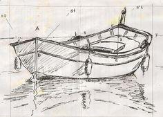 """Dessin et peinture - vidéo 758 : Dessiner une barque et le """"pointu provençal"""". - Le blog de lapalettedecouleurs.over-blog.com"""