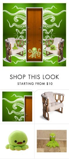 """""""Octopus Kids Room"""" by yours-styling-best-friend ❤ liked on Polyvore featuring interior, interiors, interior design, home, home decor, interior decorating, nOir, bedroom, kitchen and home office"""