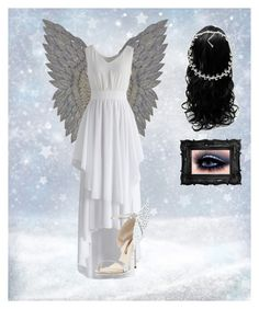 """Just an angel... A beautiful one"" by pinkilover ❤ liked on Polyvore featuring Chicwish, Sophia Webster and Carolee"