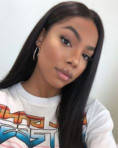 Mswisdom Hair Peruvian Straight Hair 3 Bundles With Ear to Ear Lace Frontal Closure Deals My Hairstyle, Wig Hairstyles, Straight Hairstyles, Black Hairstyles, Natural Straight Hair, Natural Hair Styles, Pin Straight Hair, Flawless Makeup, Skin Makeup