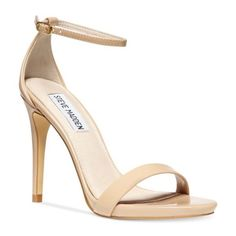 """Nude ankle strap Steve Madden heels Nude ankle strap patent heels. Steve Madden Stecy size 8M. Leather lining. 4"""" heel. Only worn a couple times. Retail $80 Steve Madden Shoes Heels"""