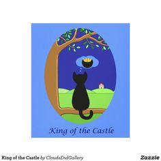 King of the Castle Canvas Print - black gifts unique cool diy customize personalize Diy Cat Tree, Cat Posters, Artwork Pictures, Colour Images, Postcard Size, Cool Diy, Paper Design, Canvas Art Prints, Poster Prints