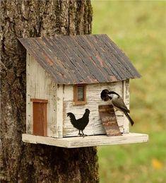 Build an Easy and Fast Chicken Coop - Chicken Coop Birdhouse Bird House Plans, Bird House Kits, Chicken Coop Designs, Backyard Chicken Coops, Chickens Backyard, Chicken Barn, Chicken Houses, Bird House Feeder, Bird Feeders