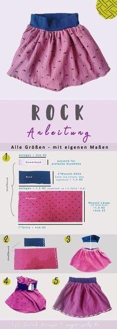 Sewing For Kids Clothes Rock nähen - Mit Bündchen - Alle Größen Baby Knitting Patterns, Knitting For Kids, Sewing For Kids, Baby Patterns, Sewing Patterns, Crochet Patterns, Easy Knitting, Tricot Simple, Learn To Sew