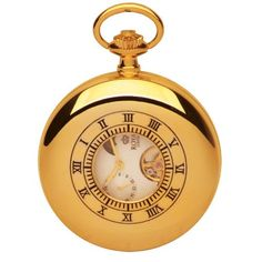 Royal London Mechanical Gold Tone Gents Pocket Watch 90006-02