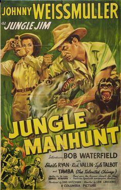 Jungle Manhunt (1951)Stars: Johnny Weissmuller, Bob Waterfield, Sheila Ryan, Lyle Talbot ~ Director: Lew Landers