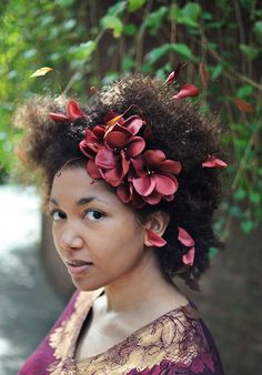 Maybe wedding hair?  Headband+Brown+Flowers+Autumn+Fascinator+by+BoutiqueDeBandeaux,+$50.00