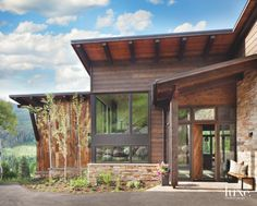 Rustic Country Reclaimed Wood Home Exterior in Colorado