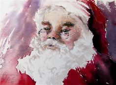 "Daily Paintworks - ""Santa"" - Original Fine Art for Sale - © Christa Friedl"
