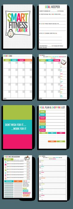 SMART Fitness Personal Planner - Fitness Fashionista