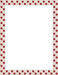 Printable ladybug border. Free GIF, JPG, PDF, and PNG downloads at http://pageborders.org/download/ladybug-border/. EPS and AI versions are also available.