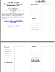 """Download handout -""""Worksheet-Free SLP: The New Role of SLPs in Schools"""" Handout for upcoming ISHA (Indiana) convention 4/4-4/6/2013-this session 4/4/2013.  http://www.islha.org/Default.aspx?pageId=1270682.  Pinned by SOS Inc. Resources http://pinterest.com/sostherapy."""