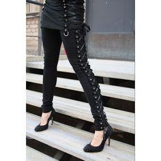 Le superbe Leggings Gothique Corset pour un style très Chic et Romantique! #Gothique #Legging