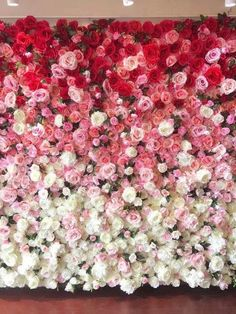70 wall decoration flower ideas that are very cnatic and unique with luxurious designs 32 Flower Wall Backdrop, Floral Backdrop, Wall Backdrops, Fake Flowers, Diy Flowers, Colorful Flowers, Wall Of Flowers, Wall Of Roses, Flower Ideas