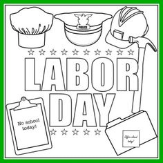 labor day song and printable coloring page for kids - Childrens Printables