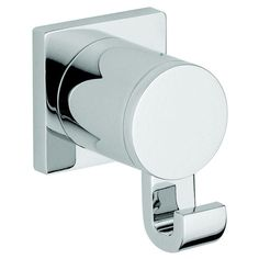 Grohe Allure Single Robe Hook in Starlight Chrome (Bath Fixtures), Silver (Metal)