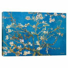 Add gallery-worthy appeal to your walls with this canvas print of Vincent van Gogh's Almond Blossom.   Product: Wall artConstruction Material: Pine wood and cotton canvasFeatures:  Printed with fade-resistant archival inksGallery-wrapped