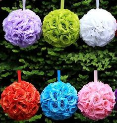 Pomander Flower Kissing Balls Wedding Centerpiece, 10-Inch – shop.PartySpin.com