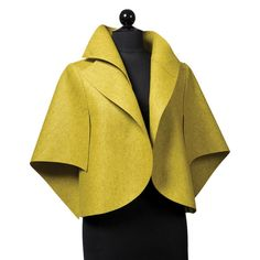 Jacket by Teresa Maria Widuch of Yantar. American Made. 2013 Buyers Market of American Craft. americanmadeshow.com