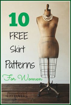 10 Free Skirt Patterns for Women - Save money when sewing skirts for your wardrobe by using free skirt patterns. Here is a list of women's skirt patterns.