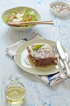 Lasagna de berenjenas (Beef and eggplants casserole)